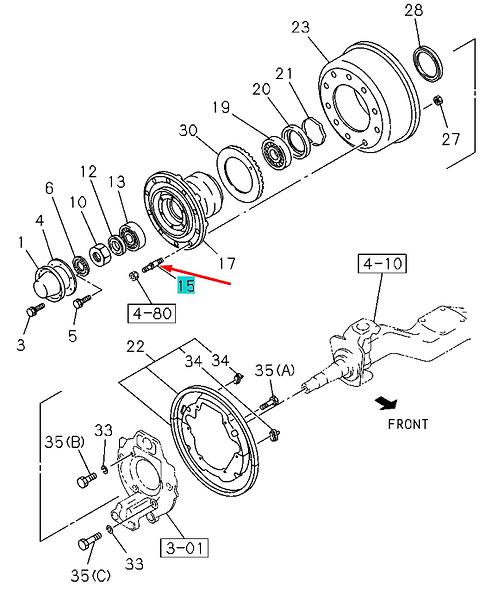 1423370671 Шпилька колеса передняя