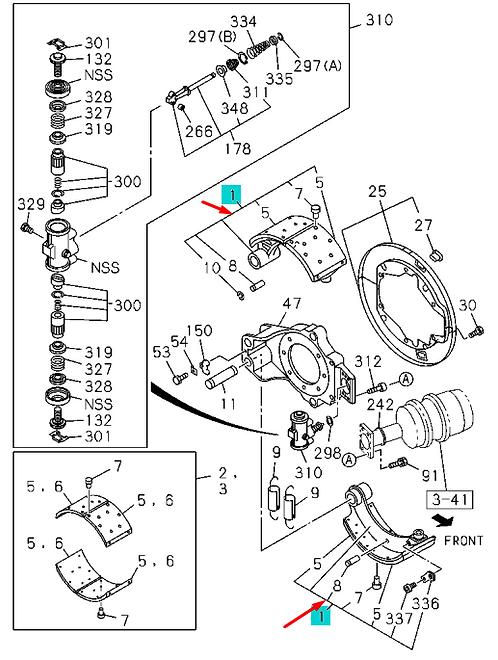 Колодка тормозная задняя ISUZU CYZ51/EXZ51