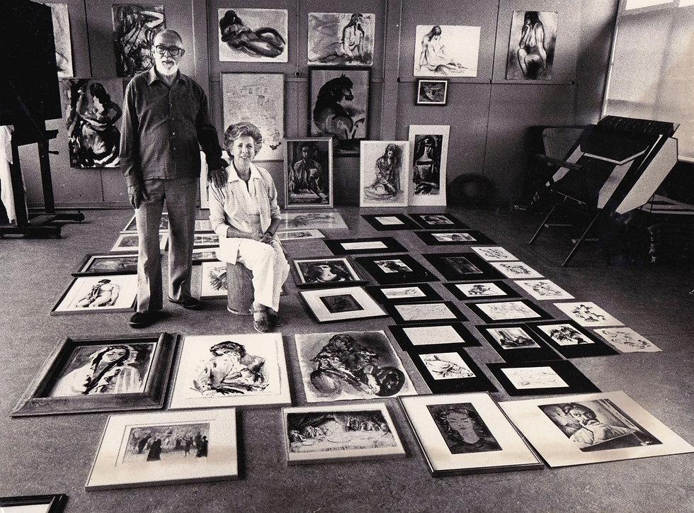 1980_s Cees en Jetty in het atelier 1 (f