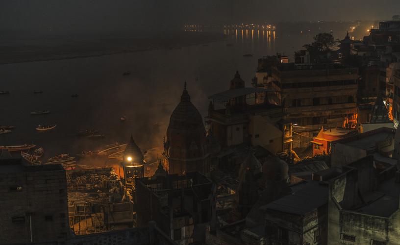 Overlooking Manikarnika Ghat