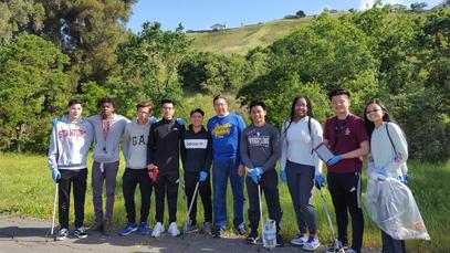 Hercules Environmental Club creek clean-up