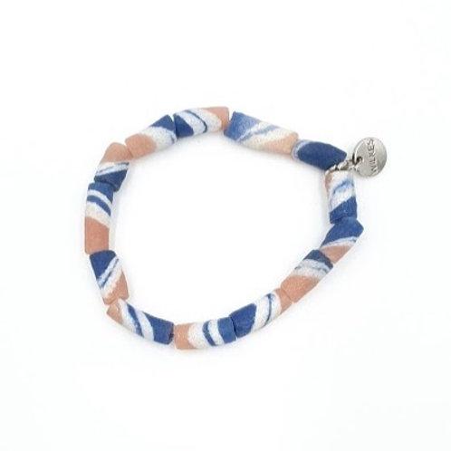 Pink + Blue African Bracelet