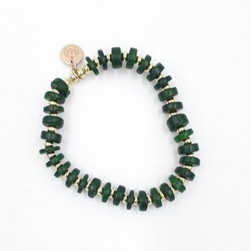 Classic Green + Gold Bracelet