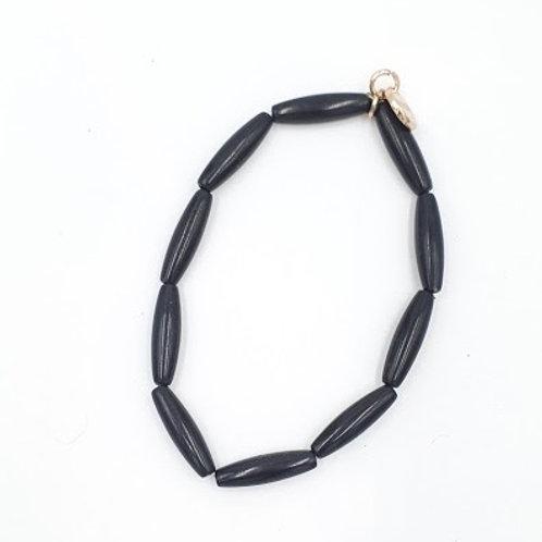 Black Recycled Bracelet