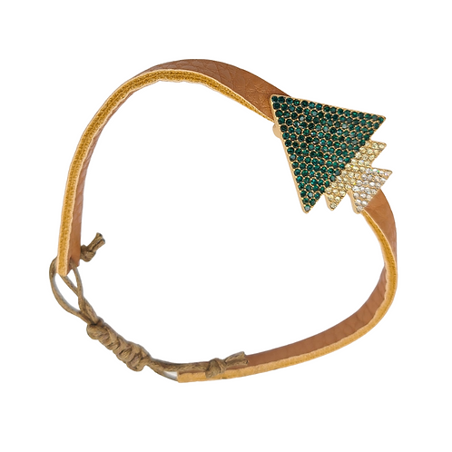 Jeweled Leather Strap