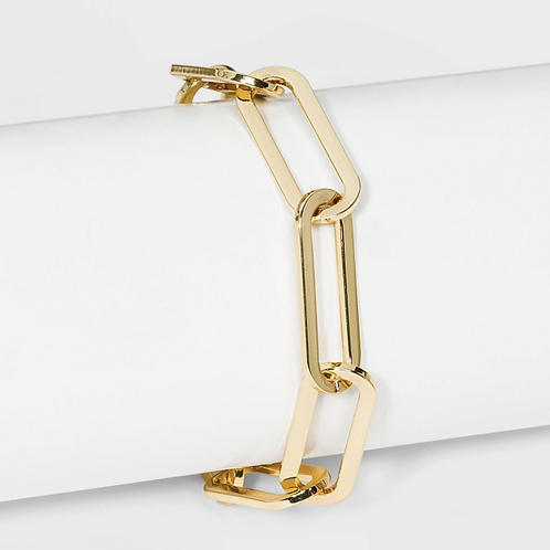 Gold Oversized Link Chain Bracelet