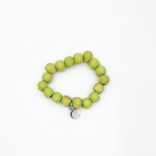 Kid's Green Wooden Bracelet