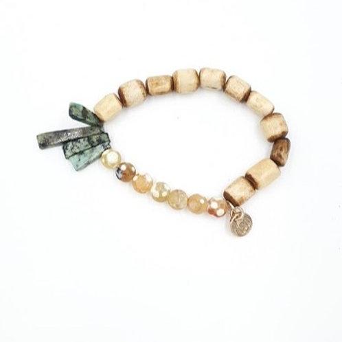 Bone + Agate Bracelet