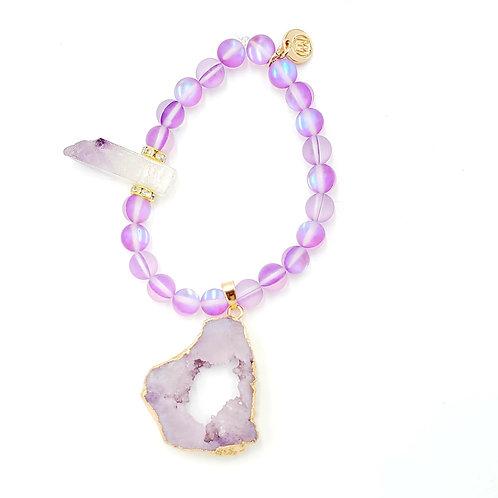 Dyed Opal Stone Bracelet