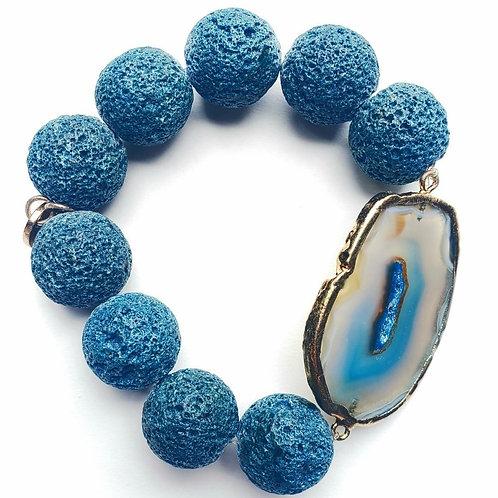 Dyed Blue Lava Stone