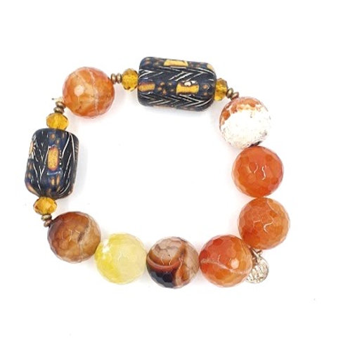 Tangerine Bali Bracelet
