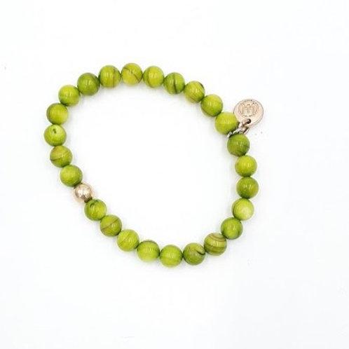 Lime Dyed Shell Bracelet