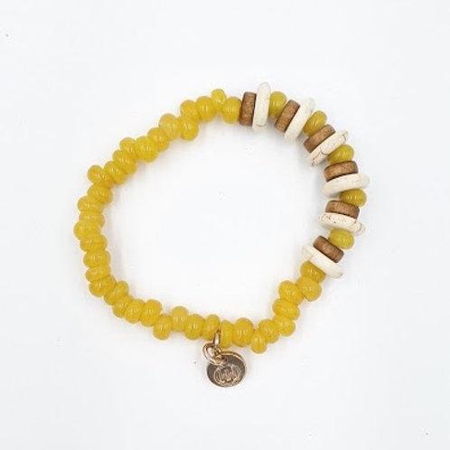 Yellow  Bali Bracelet