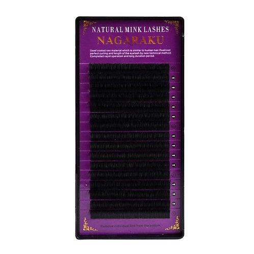 Ресницы черные nagaraku  0,12 С 13 мм