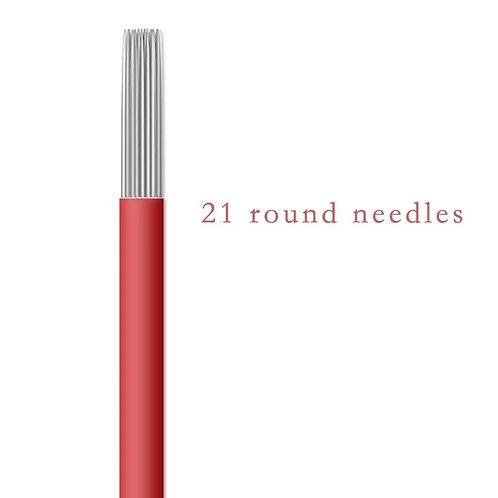 Игла для микроблейдинга пучковая Round № 21 комплект 10шт