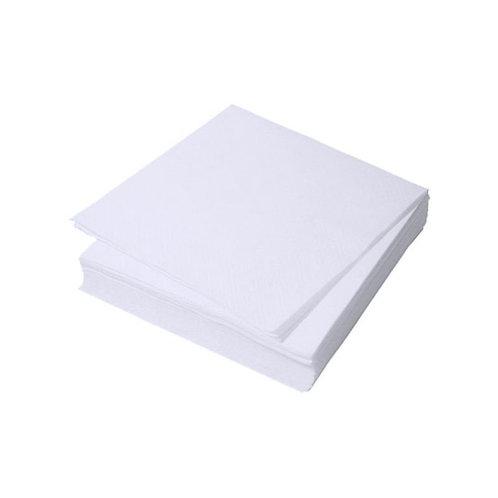 Салфетка одноразовая 20*20 спанлейс белый White line 100 шт
