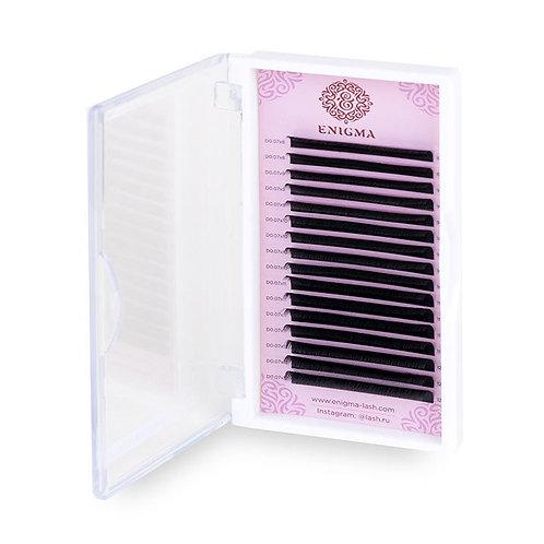 Ресницы черные ENIGMA MIX 0,10 D 7-13мм
