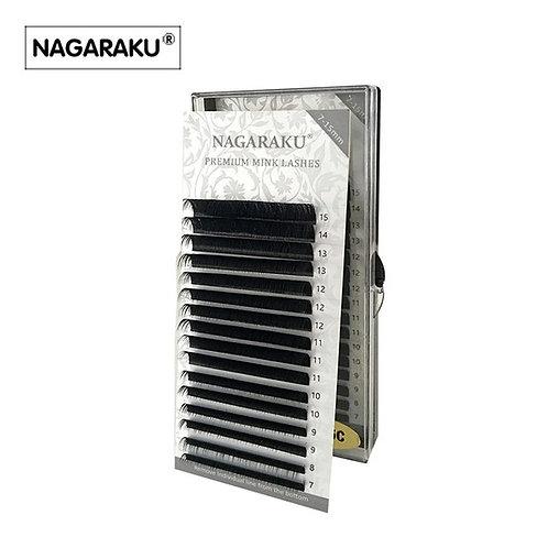 Ресницы черные nagaraku MIX 0,07 D