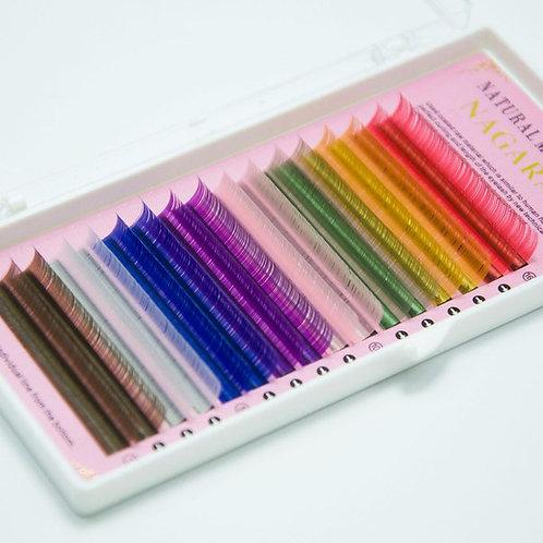 Ресницы цветные nagaraku 0,10 С  11мм