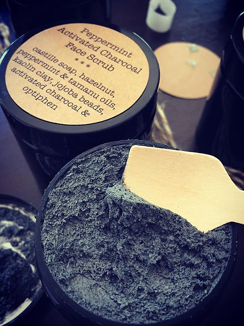 Activated Charcoal & Peppermint Scrub