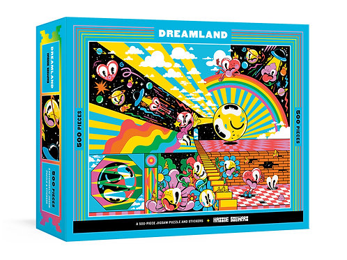 Dreamland: A 500-Piece Jigsaw Puzzle & Stickers: Jigsaw Puzzles for Adults
