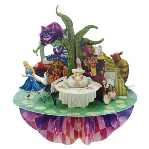 Alice in Wonderland 3D Pop Up Greeting Card