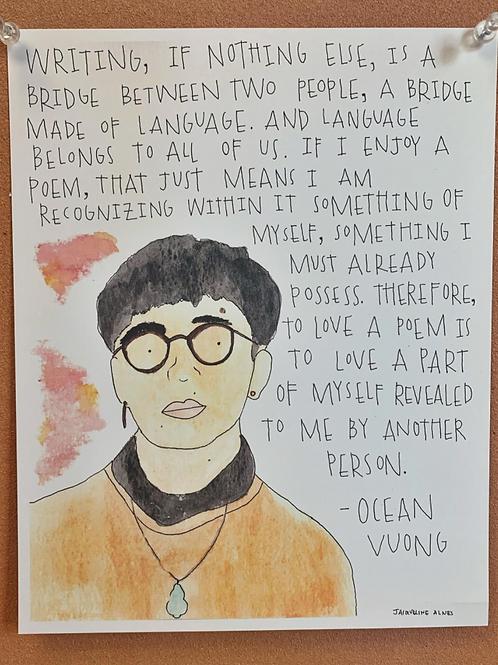Ocean Vuong Print w/Quote