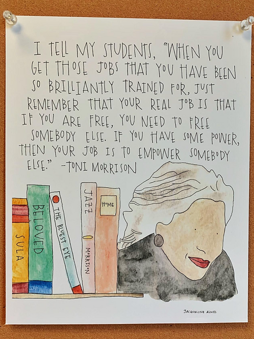 Toni Morrison Print w/Quote
