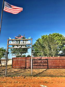 Cross S RV Park Sign