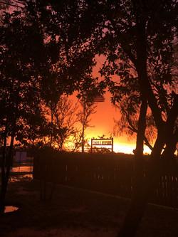 Burning Orange Sky