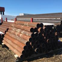 Steel Bollards at The Pipe Yard