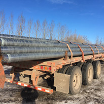 Truck loaded from The Pipe Yard