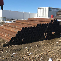 Steel Bollards at The Pipe Yard
