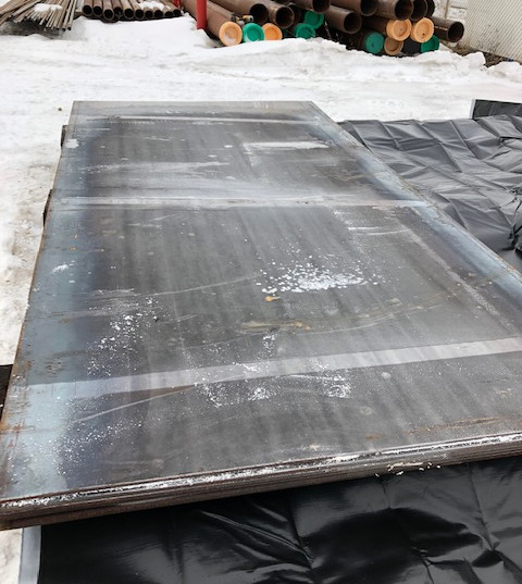 Steel Plate at The Pipe Yard