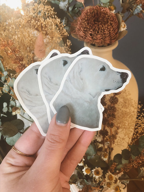 """Small Yellow Lab Dog Sticker (Use Code """"STICKERS"""" for Free Shipping)"""