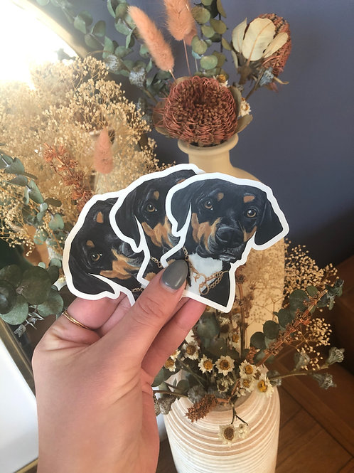 """Rottweiler Dog Sticker (Use Code """"STICKERS"""" For Free Shipping)"""