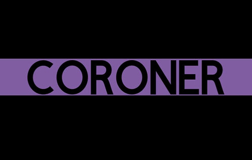 Coroner Purple Line Magnet