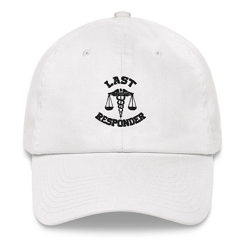 Last Responder Baseball Cap (black lettering)