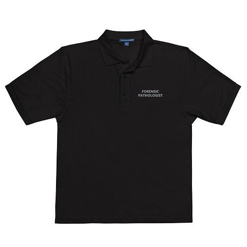Forensic Pathologist Men's Black Premium Polo