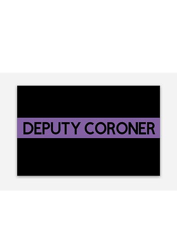 Deputy Coroner PL Sticker