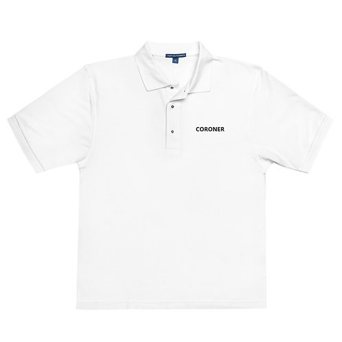Coroner Men's White Premium Polo