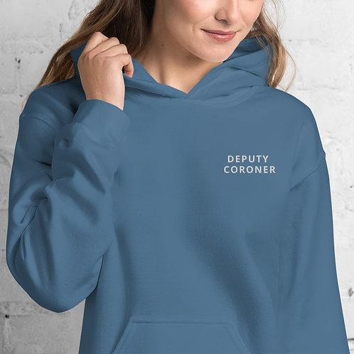 Unisex Deputy Coroner Hoodie (white lettering)