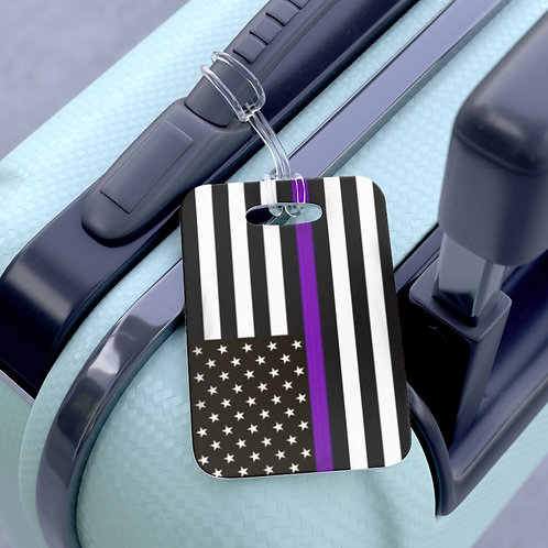 Purple Line Luggage Tag
