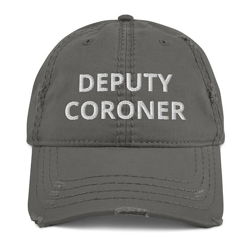 Deputy Coroner Distressed Hat