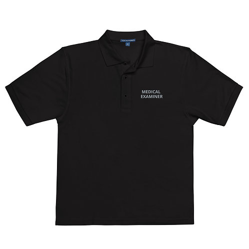 Medical Examiner Men's Black Premium Polo