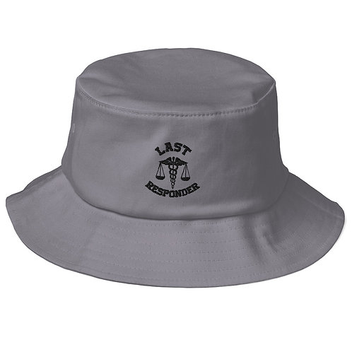 LR Old School Bucket Hat (Black Logo)