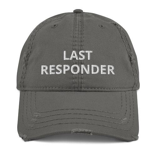 Embroidered Last Responder Distressed Hat