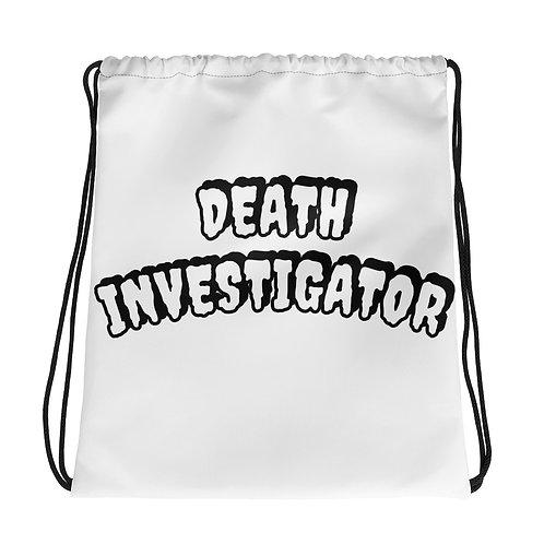 Fun Death Investigator Drawstring bag