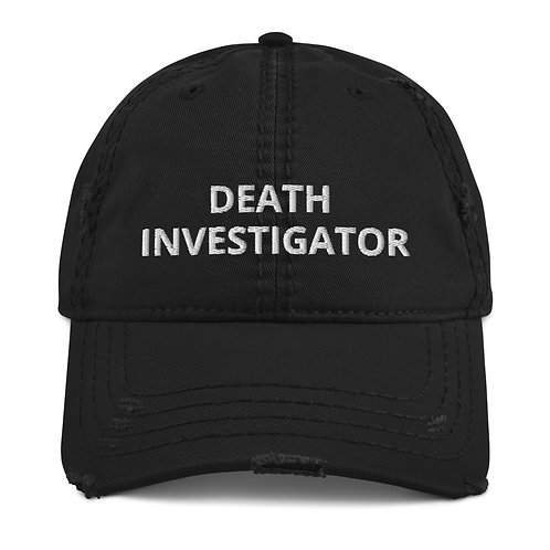 Death Investigator Distressed Hat