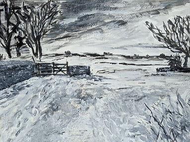 p68 line 13 - snow scene - Peter Waine -